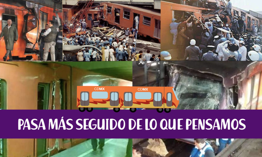 5 accidentes del metro cdmx, que ha sufrido durante los últimos años